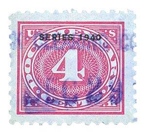 1940 4c ros pnk,offset,dl wmk,perf 11
