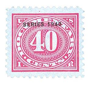 1940 40c ros pnk,offset,dl wmk,perf 11