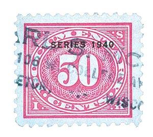 1940 50c ros pnk,offset,dl wmk,perf 11