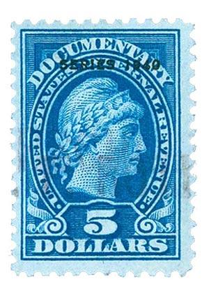 1940 $5 dk bl, engraved, perf 11