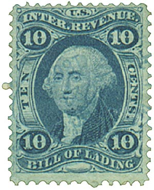 1862-71 10c blue,bill of lading,old pape