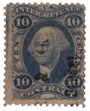 1862-71 10c Contract, ultramarine