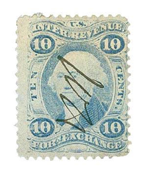 10c Foreign Exchange, ultramarine
