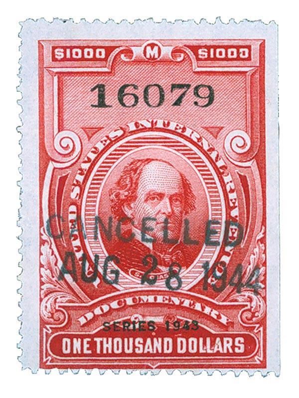 1943 $1000 carmine