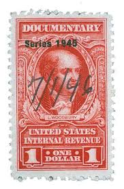 1944 $1 car, rev, dl wmk, perf 11