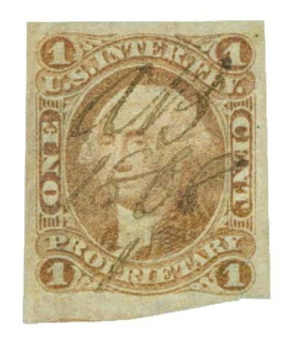 1862-71 1c red, proprietary, imperf