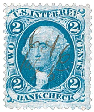 1862-71 2c bl, bank check,old paper
