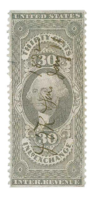 1862-71 30c lil,inld exchg,part perf