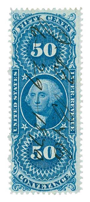 1862-71 50c bl,conveyance,part perf