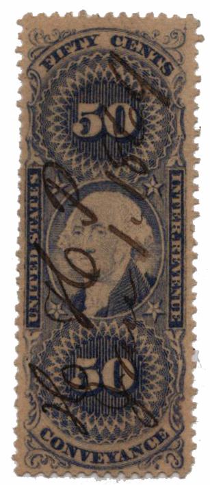 1862-71 50c Conveyance, ultramarine