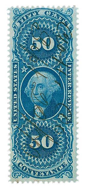 1862-71 50c bl,conveyance,silk paper