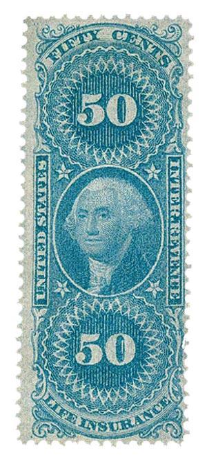 1862-71 50c bl,life ins,old paper
