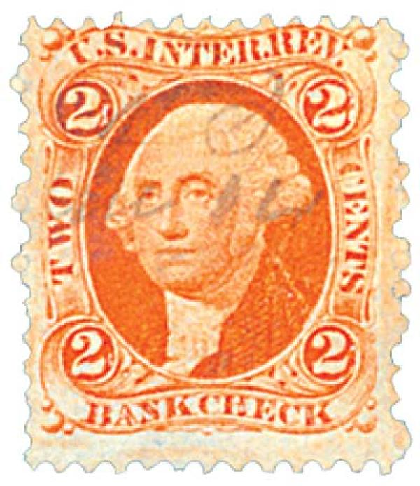 1862-71 2c org, bank check, old paper