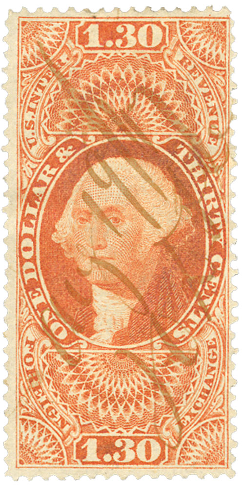 1862-71 $1.30 org,forn exchg,old paper