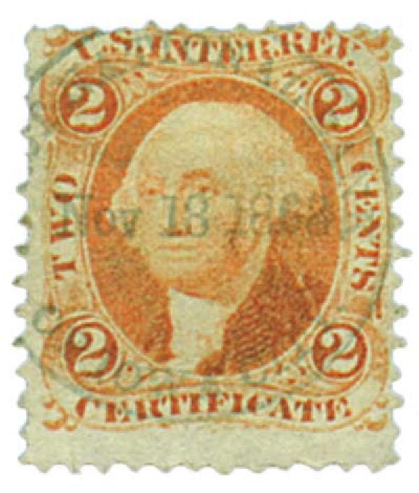 1862-71 2c org, certificate,old paper