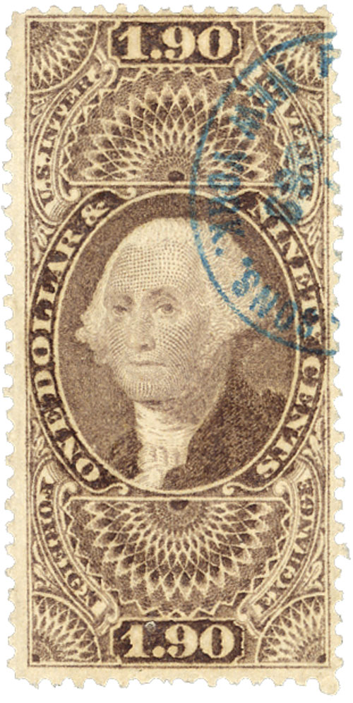 1862-71 $1.90 pur,forn exchg,old paper