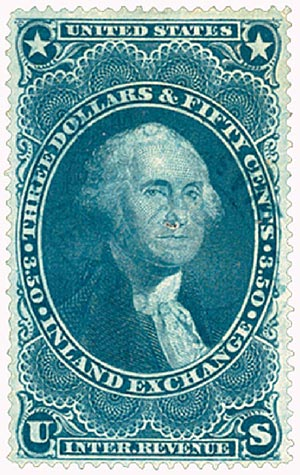 1862-71 $3.50 bl,inld exchg,old paper