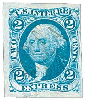 1862-71 2c bl, express, imperf