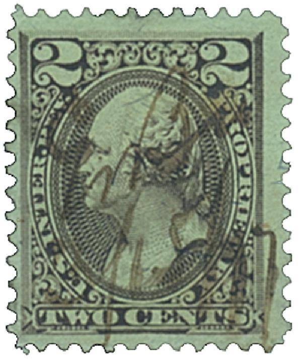 1875-81 2c brn, silk paper