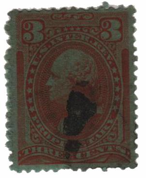 1875-81 3c org, dl wmk, perf