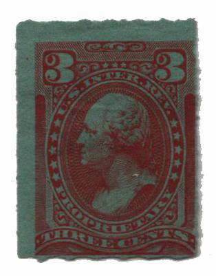 1875-81 3c org, dl wmk, roulette