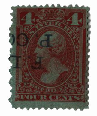 1875-81 4c red brn, dl wmk, perf