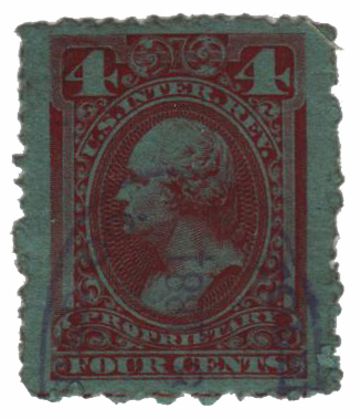 1875-81 4c red, dl wmk, perf