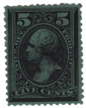 1875-81 5c blk, dl wmk, perf