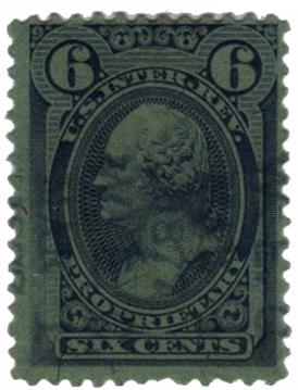 1875-81 6c vio bl, silk paper