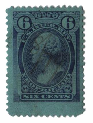 1875-81 6c vio, dl wmk, perf