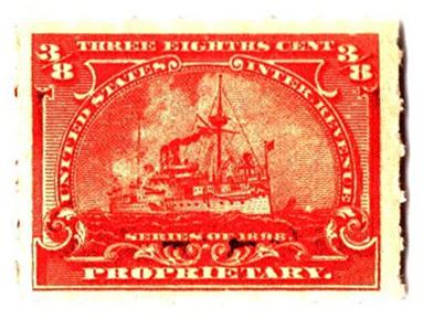 1898 3/8c deep orange, roulette 5 1/2
