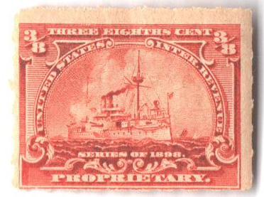 1898 3/8c deep orange, Hyphen Hole