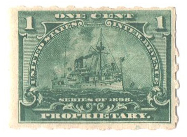 1898 1c dark green, Hyphen Hole