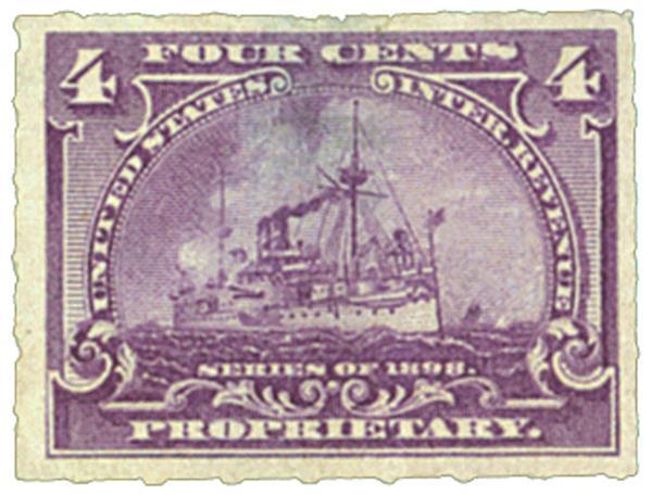 1898 4c purple, roulette 5 1/2