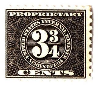 1914 33/4c, blk, offset,sl wmk, perf 10