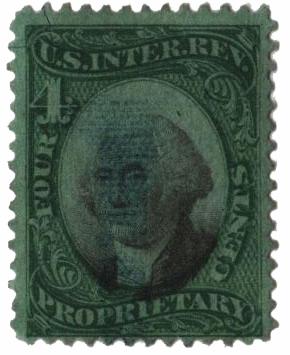 1871-74 4c grn, blk, violet paper