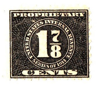 1914 17/8c, blk, offset,dl wmk, perf 10