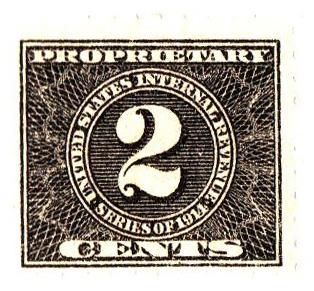 1914 2c blk, offset, dl wmk, perf 10