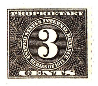 1914 3c, blk, offset, dl wmk, perf 10