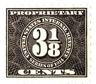 1914 31/8c, blk, offset,dl wmk, perf 10