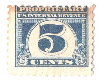 1919 5c dk bl, offset, perf 11
