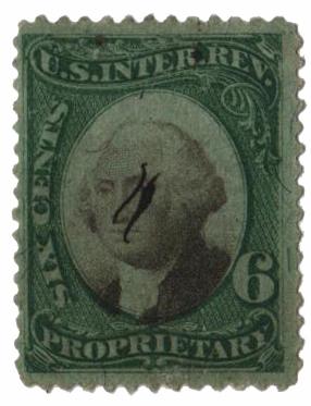 1871-74 6c grn, blk, violet paper