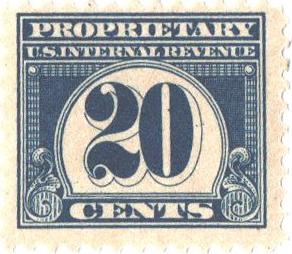 1919 20c dk bl, offset, perf 11