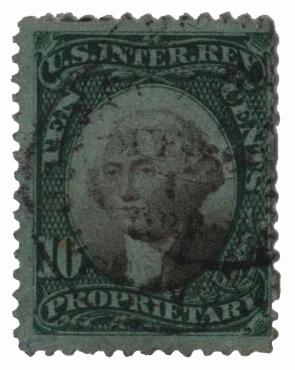 1871 10c green & black, violet paper