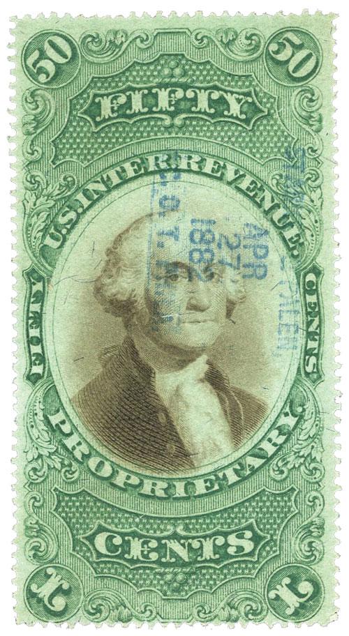 1873 50c green & black