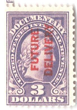 1918-34 $3 vio, fut deliv, type I