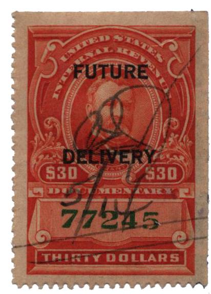 1918-34 $30 ver, fut deliv, type I