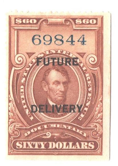 1918-34 $60 brn, fut deliv, type I