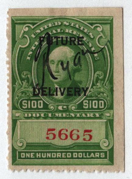 1918-34 $100 yel grn, fut deliv, type I
