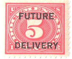 1918-34 5c carmine rose, Future Delivery, type I